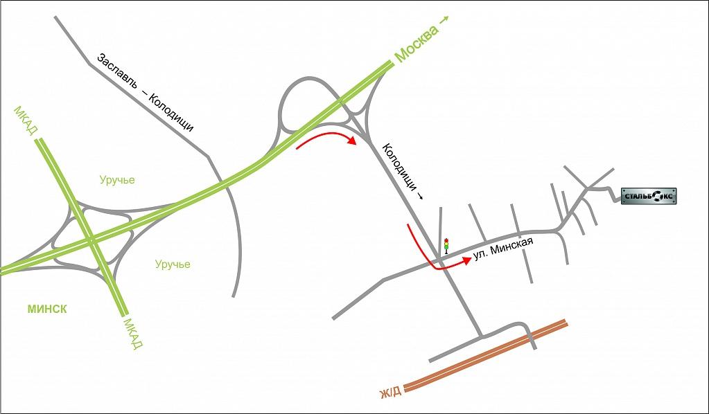 карта со схемой проезда