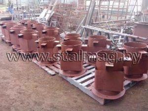 Стаканы для крепления крышных вентиляторов, дефлекторов и зонтов 63
