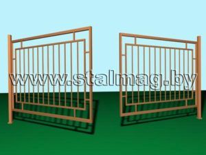 Распашные ворота 1