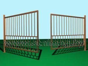 Распашные ворота 10