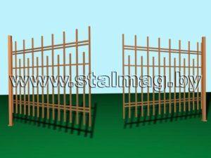 Распашные ворота 22