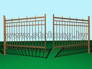 Распашные ворота 24