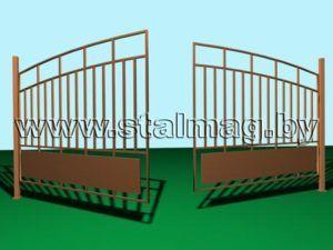 Распашные ворота 3