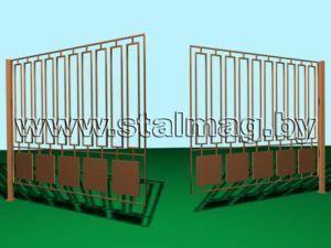 Распашные ворота 4