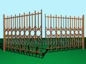 Распашные ворота 8