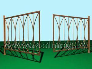 Распашные ворота 9