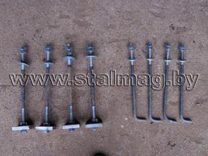 Болты фундаментные с анкерной плитой и изогнутые 2